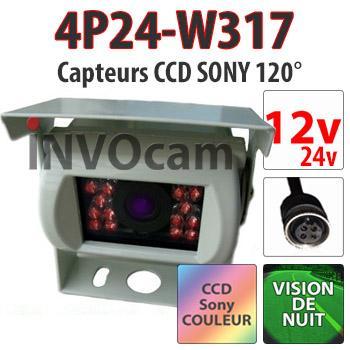 Caméra 12-24 Volts BLANCHE