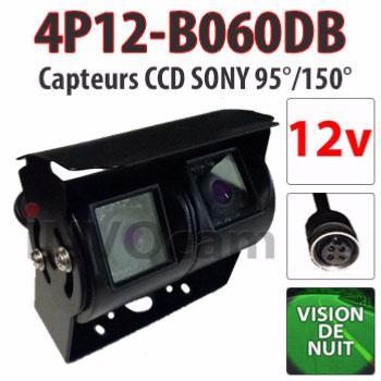 Caméra double 12 Volts vision