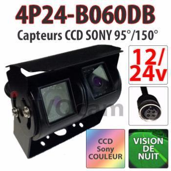 Caméra double 12 24 Volts