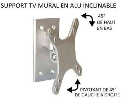 Support TV mural simple en