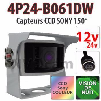 Caméra de recul blanche CCD