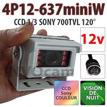 Caméra 12 Volts ultra compacte