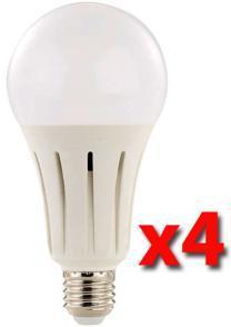 Pack de 4 ampoules LED E27