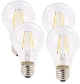 Pack 4 ampoules LED à filament