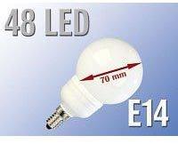 Ampoule 48 LED SMD E14 blanc