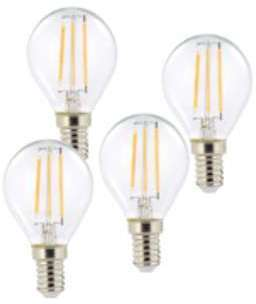 4 ampoules LED à filament