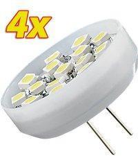 4 Ampoules 15 LED SMD G4 blanc