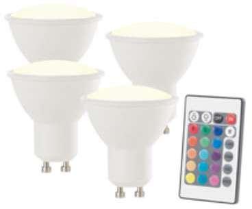 Spot LED GU10 RVB blanc chaud
