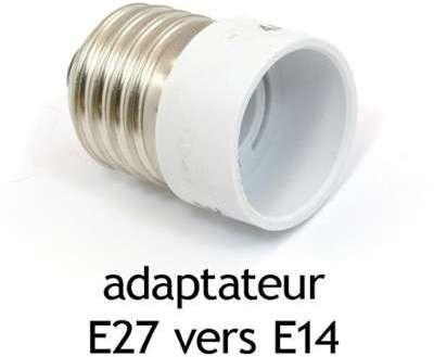 Adaptateur culot E27 vers