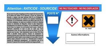 X1 Etiquette HACCP pour poste