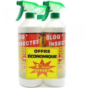 Bloq insectes lot de 3