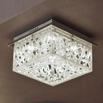 Lustre Plafonnier chromé LED