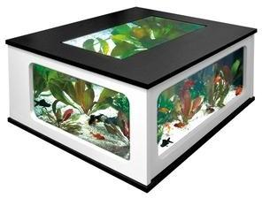 Aquarium Table 310L noir blanc