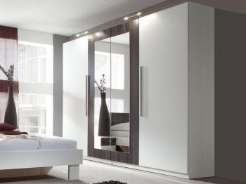 Armoire VERO 4 portes blanc