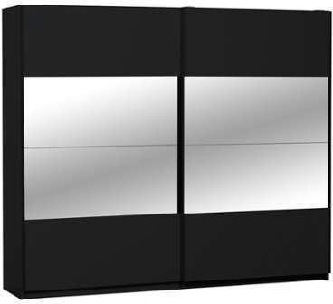 Armoire dressing Noire 2 portes