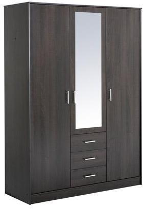 Armoire 3 portes miroir 148x55x202cm