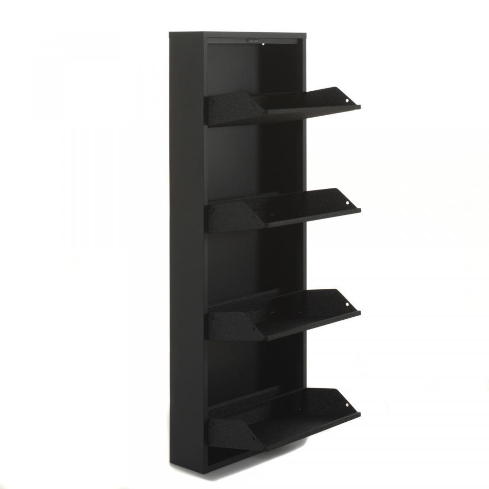 Cat gorie armoires chaussures du guide et comparateur d 39 achat - Meuble chaussures noir ...