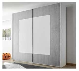 Armoire design grise et blanche