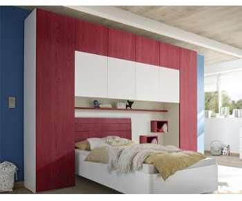 Pont de lit design rouge et