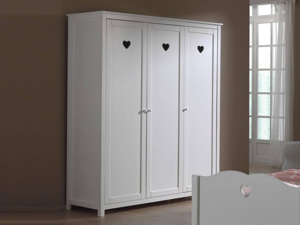 Armoire AMORA 3 portes blanc