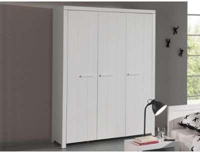 Armoire RIKKIE 3 portes blanc