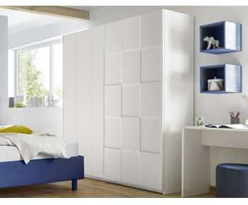 Armoire design damier blanc
