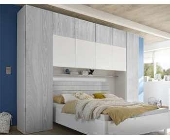 Pont pour lit gris et blanc