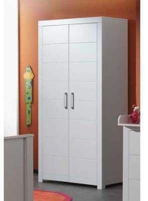 Armoire 2 portes coloris blanc