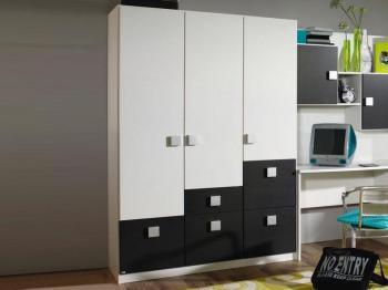 Armoire SKUNK 3 portes 5 tiroirs
