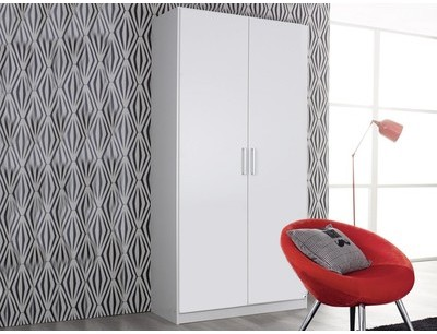 Armoire ALBANO 2 portes blanc