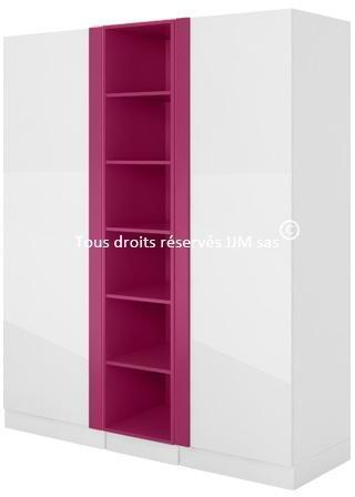 Armoire-dressing design blanc
