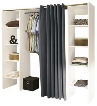 Dressing extensible à rideau
