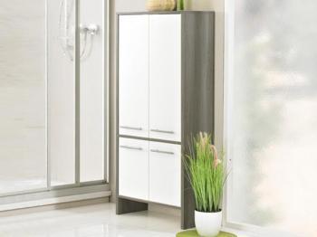 Armoire OLIVERA 4 portes graphite