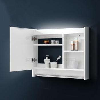 Miroir rangement 80 cm lumineux