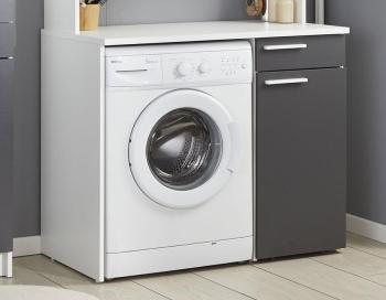 Meuble machine à laver blanc