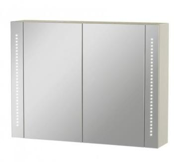 Armoire miroir LED 2 portes