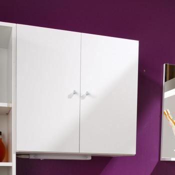 Catgorie armoires toilettes du guide et comparateur d 39 achat for Petit meuble salle de bain blanc
