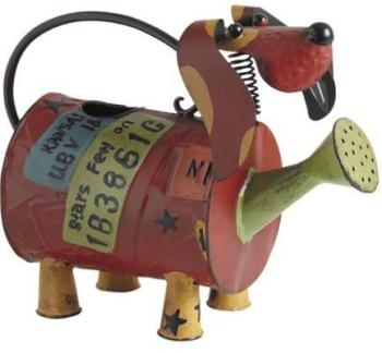 Arrosoir chien en métal laqué