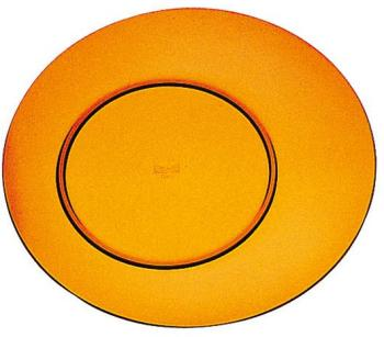 Assiette plate ambre 27cm