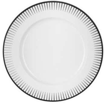 Assiette plate blanche 28
