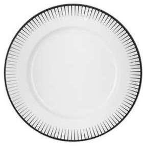 Assiette plate blanche 17