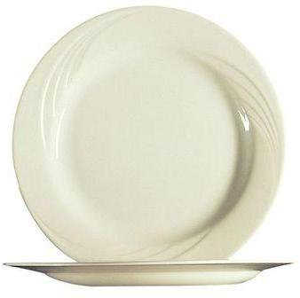 Assiette plate blanche 19