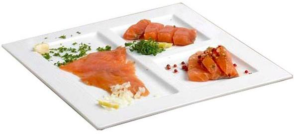 Assiette 3 compartiments plate