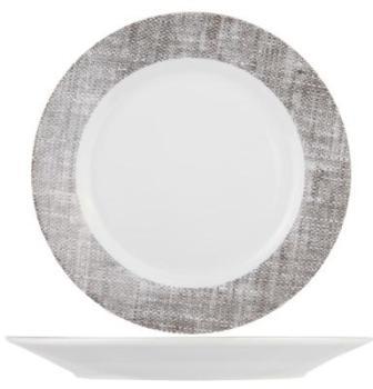 Assiette plate ronde en porcelaine