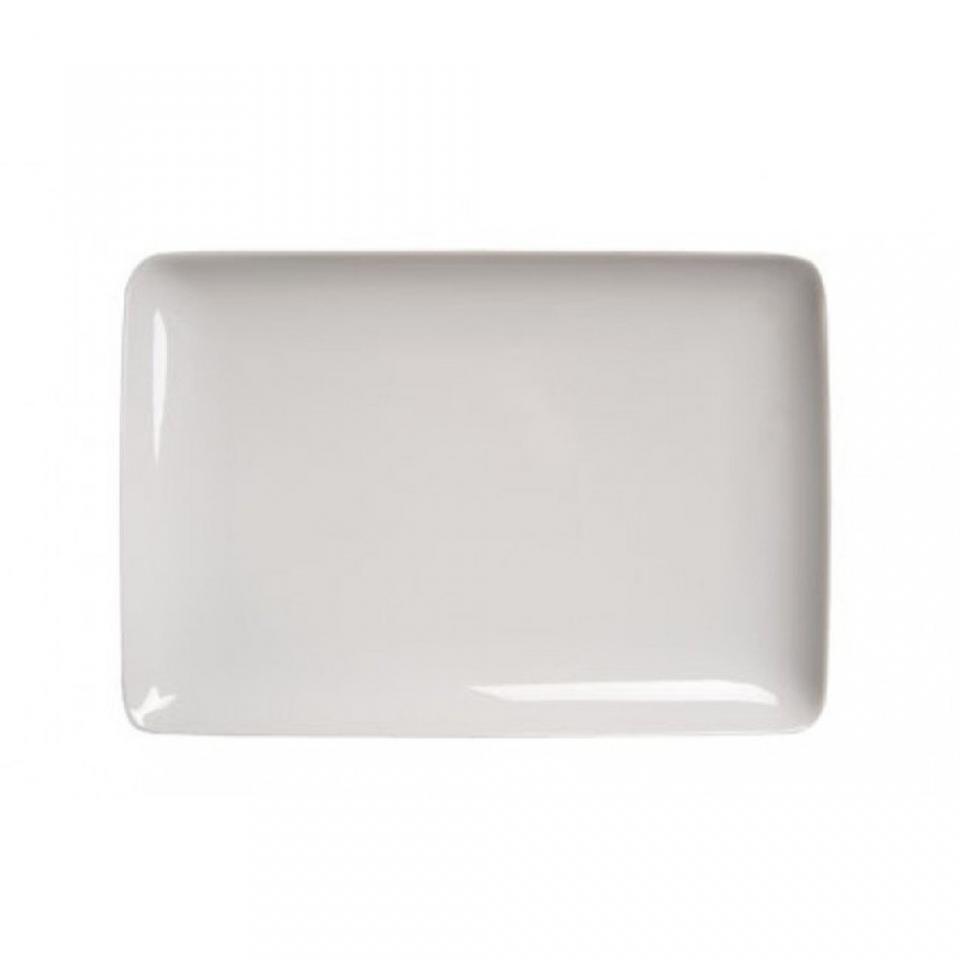Assiette plate rectangulaire