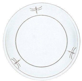 Assiette plate en verre 25cm