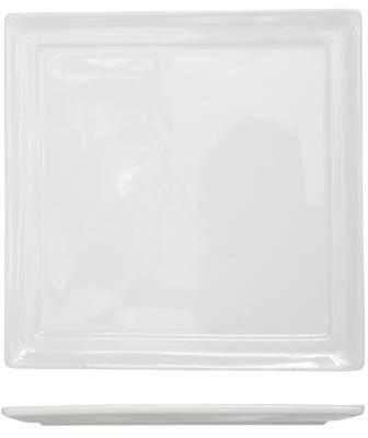 Assiette carrée blanche 18