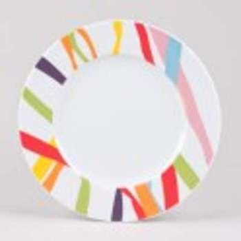 Assiette plate ruban
