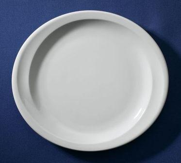 Assiette plate ovale blanche