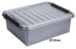 Boite plastique opaque gris